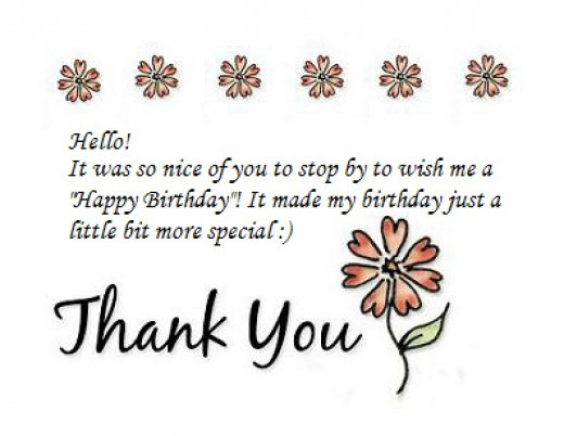 Best ideas about Thank You Note For Birthday Wishes . Save or Pin Thank You Notes for Birthday Wishes Now.