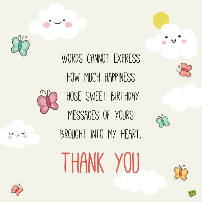 Best ideas about Thank You Note For Birthday Wishes . Save or Pin 65 Thank You Status Updates for Birthday Wishes Now.