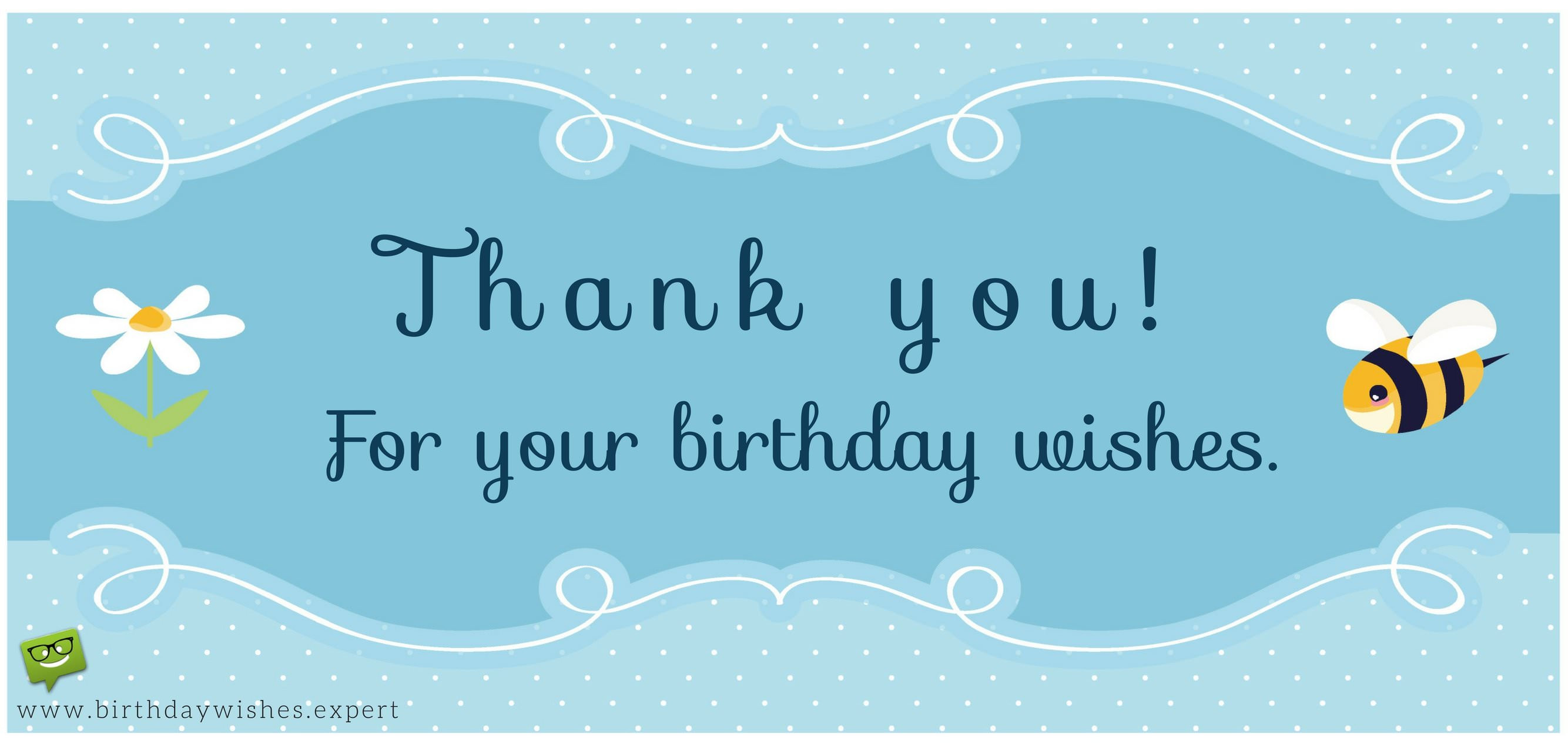 Best ideas about Thank You Note For Birthday Wishes . Save or Pin Thank you for your Birthday Wishes & For Being There Now.
