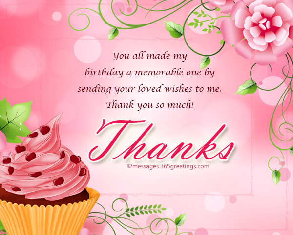 Best ideas about Thank You Note For Birthday Wishes . Save or Pin Thank You Message For Birthday Wishes Now.