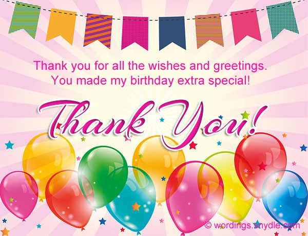 Best ideas about Thank You Note For Birthday Wishes . Save or Pin How To Say Thank You For Birthday Wishes Wordings and Now.