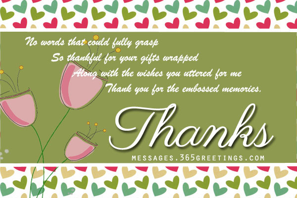 Best ideas about Thank You Notes For Birthday Wishes . Save or Pin Birthday Thank You Messages Thank You for Birthday Wishes Now.