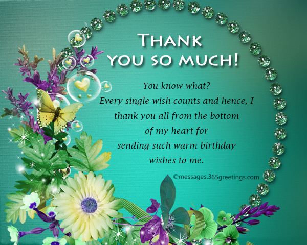 Best ideas about Thank You Notes For Birthday Wishes . Save or Pin Thank You Message For Birthday Wishes Now.