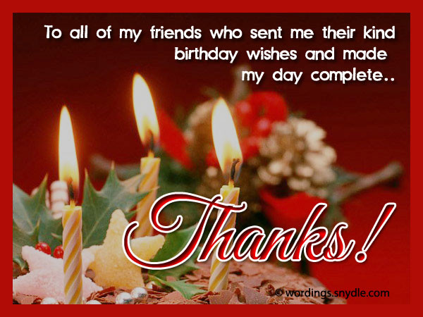 Best ideas about Thanks For Birthday Wishes . Save or Pin How To Say Thank You For Birthday Wishes Wordings and Now.