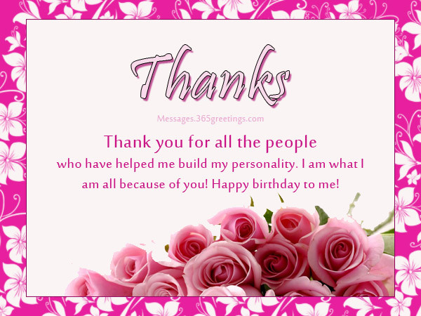 Best ideas about Thanks Message For Birthday Wishes . Save or Pin Birthday Thank You Messages Thank You for Birthday Wishes Now.