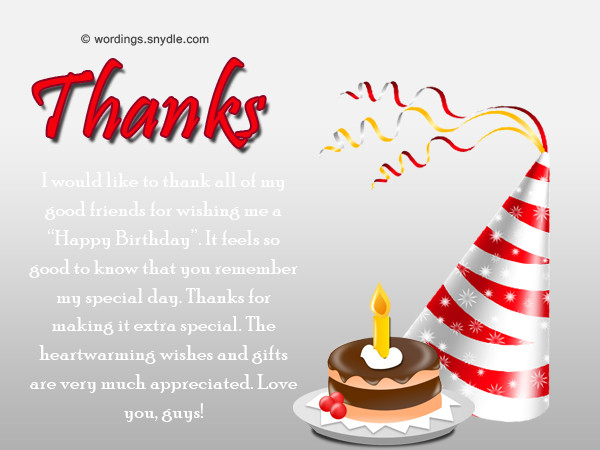 Best ideas about Thanks Message For Birthday Wishes . Save or Pin How To Say Thank You For Birthday Wishes Wordings and Now.