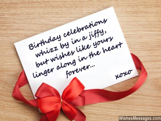 Best ideas about Thanks Quotes For Birthday Wishes . Save or Pin Thank You Messages for Birthday Wishes Quotes and Notes Now.