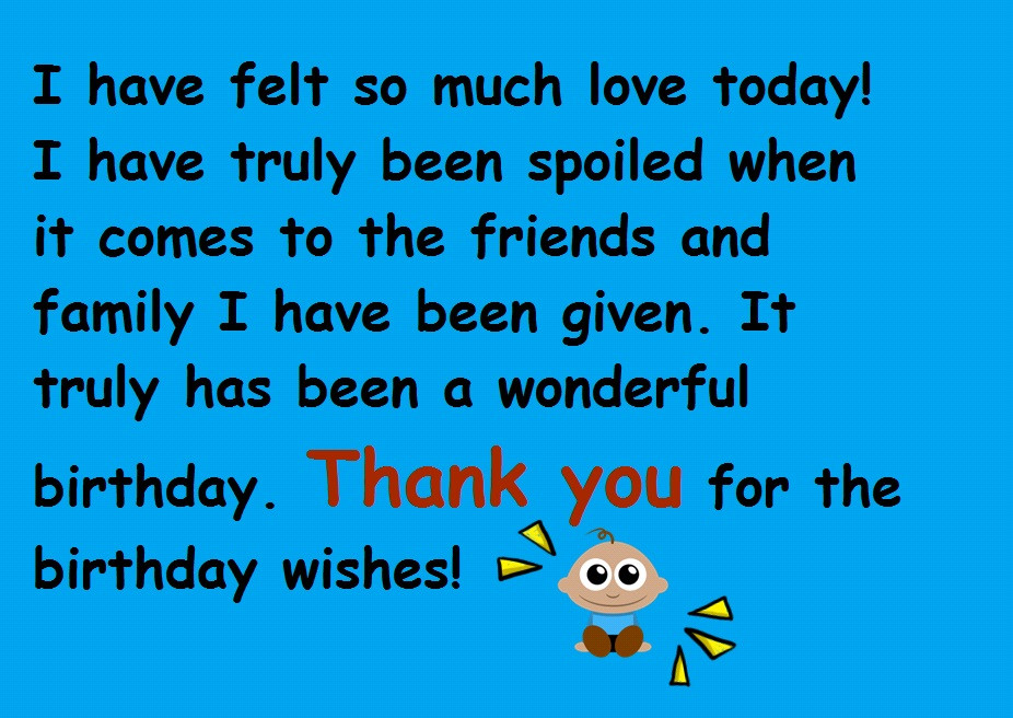 Best ideas about Thanks Quotes For Birthday Wishes . Save or Pin Thanks for the Birthday Wishes Notes and Quotes Now.