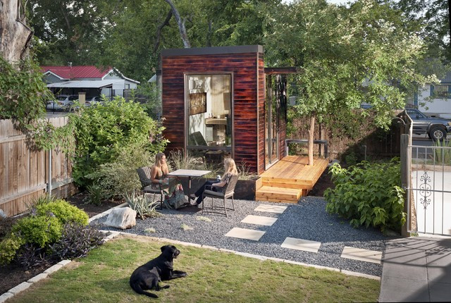 Best ideas about The Backyard Austin . Save or Pin 92 Square Foot Backyard fice Modern Home fice Now.