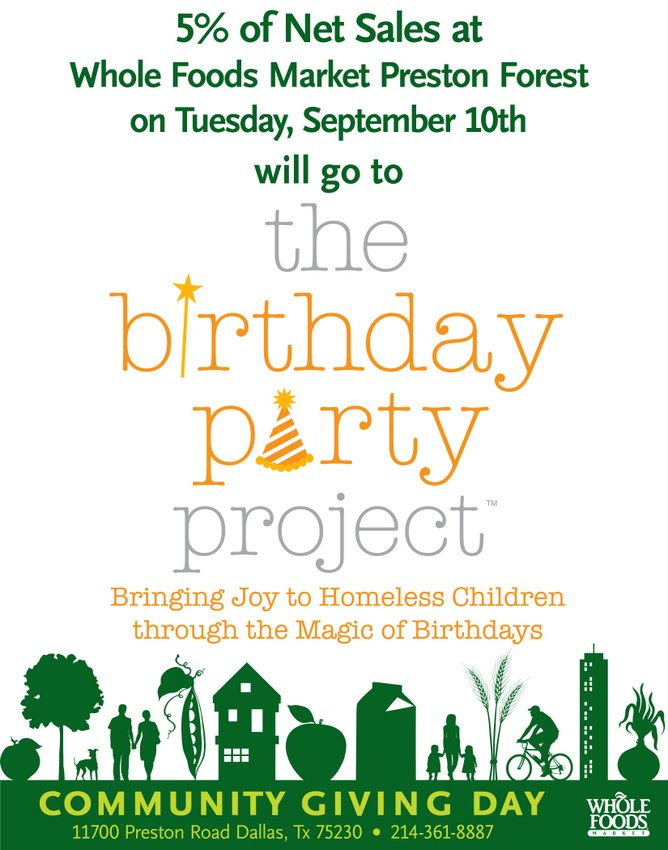 Best ideas about The Birthday Party Project . Save or Pin Shop At Whole Foods Support The Birthday Party Project Now.