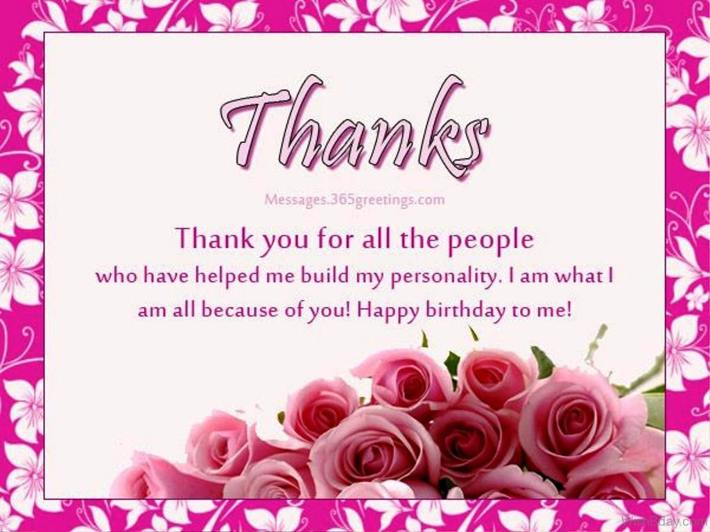 Best ideas about The Birthday Wish . Save or Pin 43 Thank You For The Birthday Wishes Now.