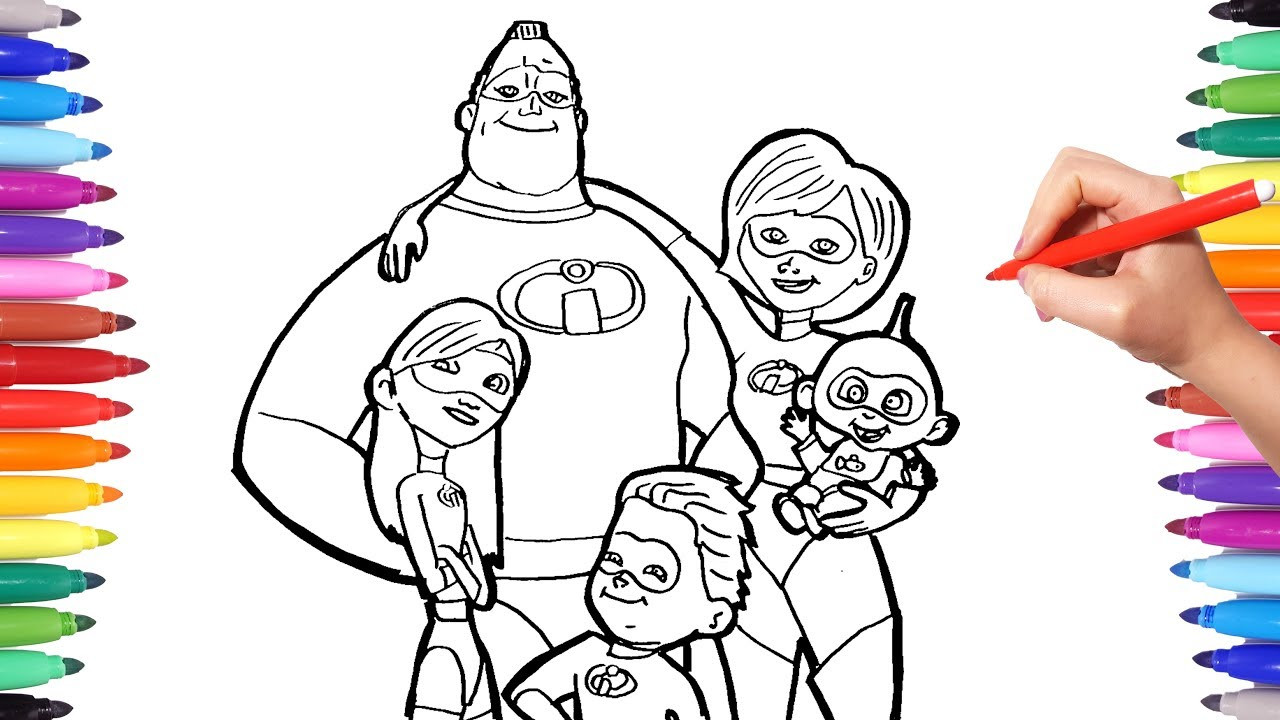 Best ideas about The Incretbls 2 Cute Vilit Coloring Pages For Girls . Save or Pin INCREDIBLES 2 Coloring Pages Now.
