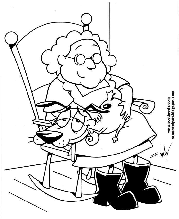 Best ideas about Therapeutic Coloring Pages For Kids . Save or Pin 7 best Courage The Cowardly Dog Coloring Pages images on Now.