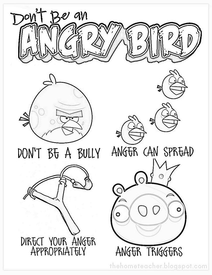 Best ideas about Therapeutic Coloring Pages For Kids . Save or Pin Coloring Angry Birds Anger Management Now.