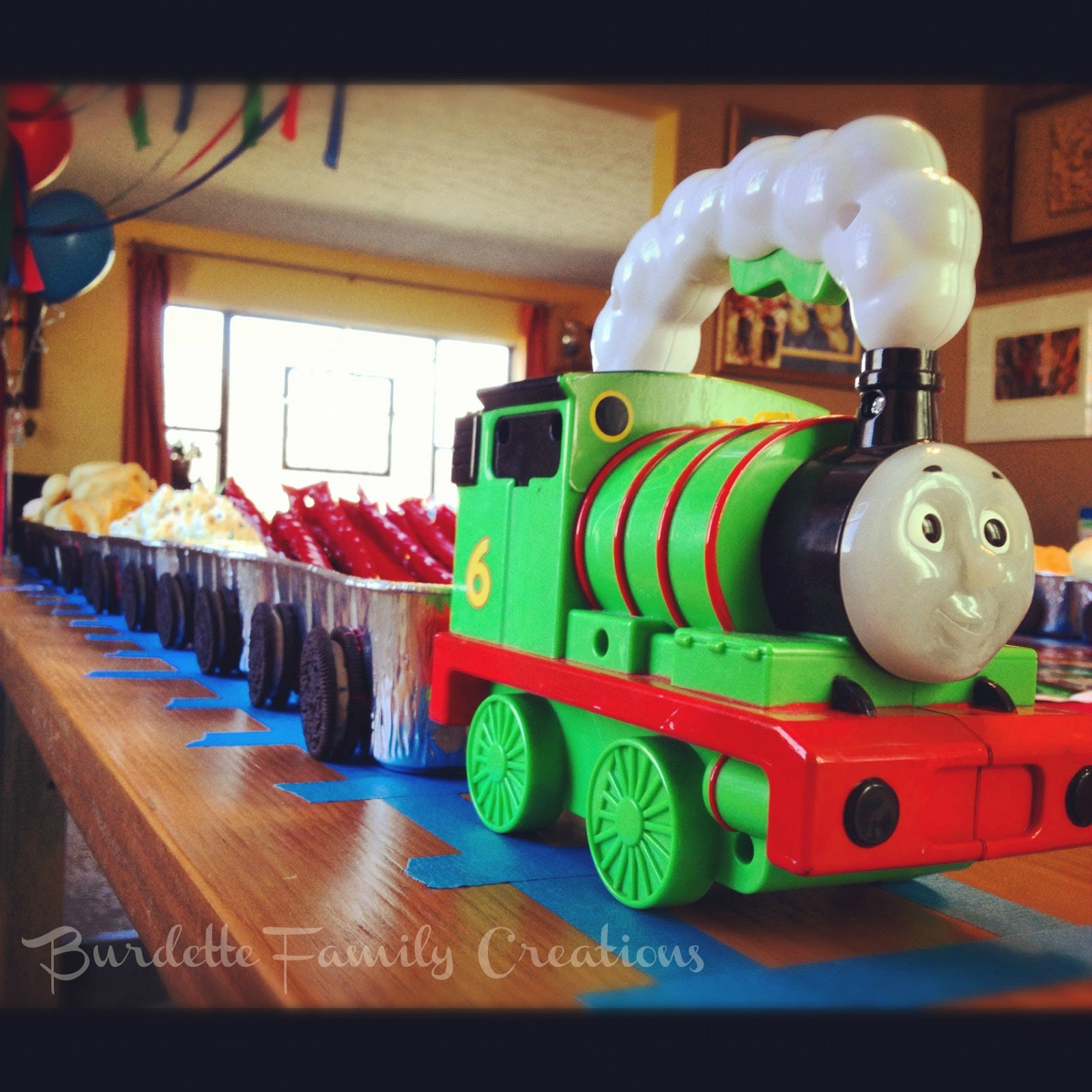 Best ideas about Thomas The Train Birthday Decorations . Save or Pin Burdette Family Creations Thomas the Train Birthday Party Now.