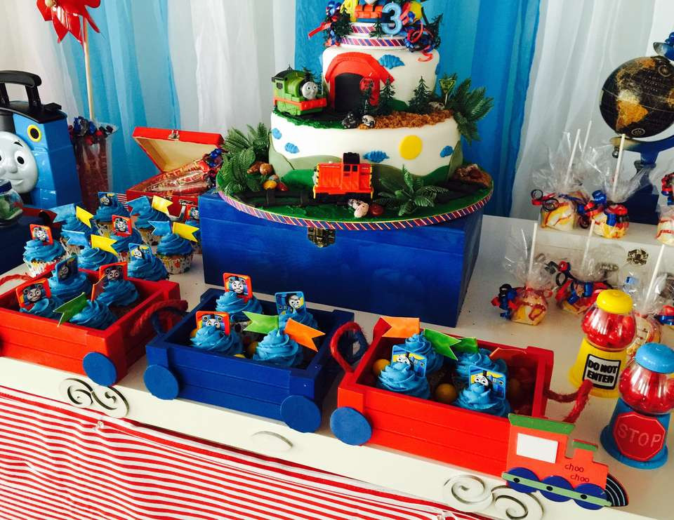 """Best ideas about Thomas The Train Birthday Decorations . Save or Pin Thomas the Train Birthday """"Train And Balloons """" Now."""
