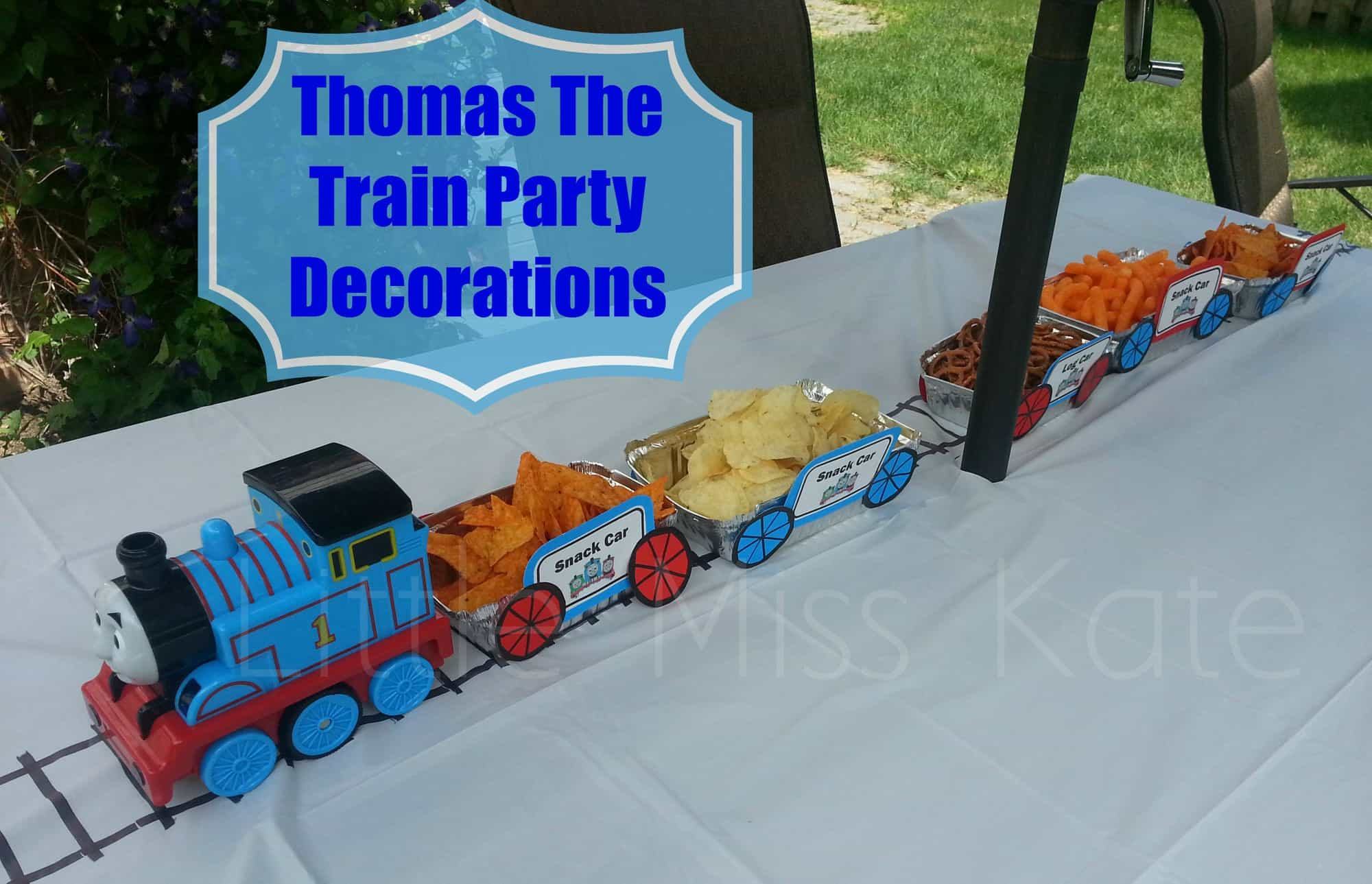 Best ideas about Thomas The Train Birthday Decorations . Save or Pin Thomas The Train Party Decorations Little Miss Kate Now.