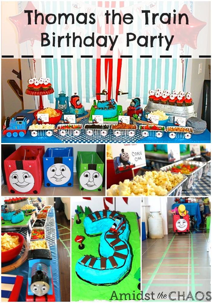Best ideas about Thomas The Train Birthday Decorations . Save or Pin Thomas the Train Birthday Party Amidst the Chaos Now.