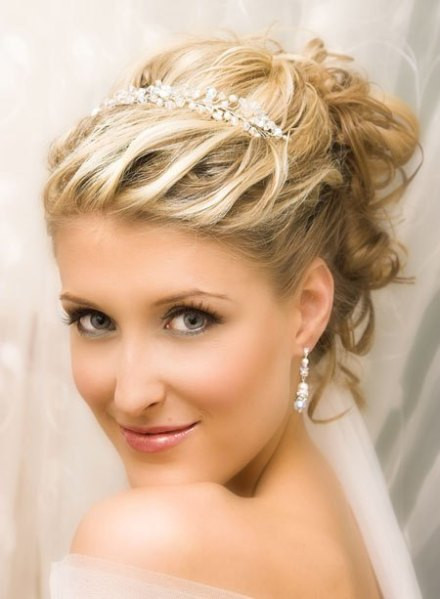 Best ideas about Tiara Hairstyles . Save or Pin Short Wedding Hairstyles with Tiara Now.