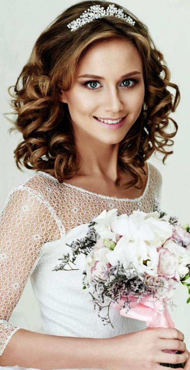 Best ideas about Tiara Hairstyles . Save or Pin Wedding Hairstyle with Tiara Now.