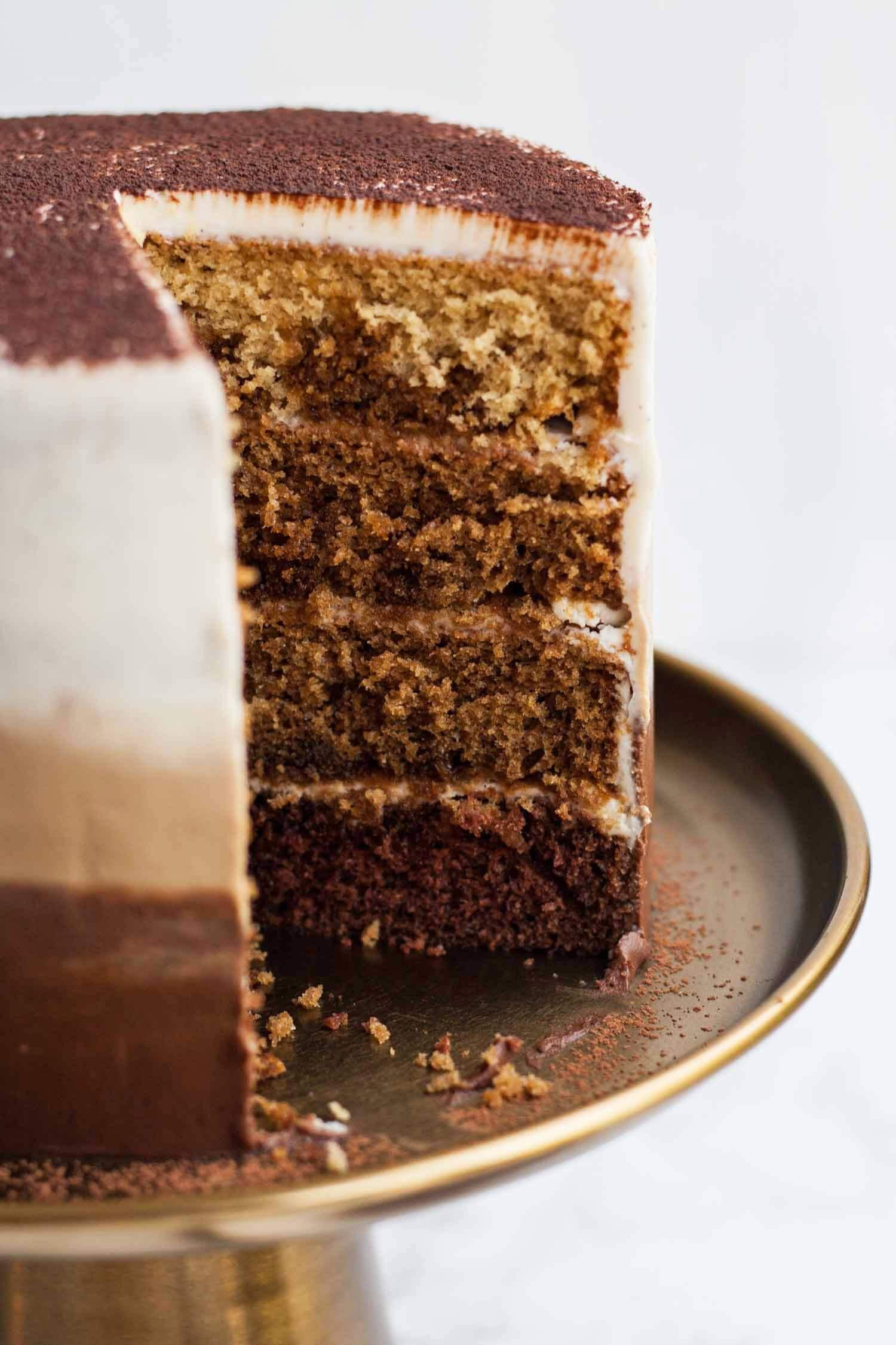 Best ideas about Tiramisu Birthday Cake . Save or Pin Tiramisu Layer Cake with Ombre Mascarpone Frosting Eat Now.