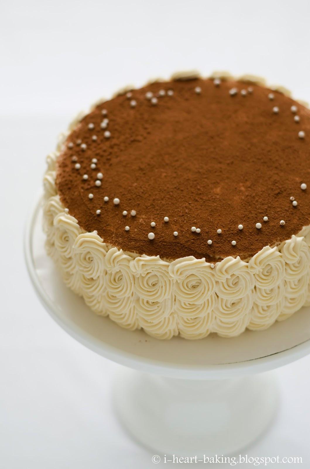 Best ideas about Tiramisu Birthday Cake . Save or Pin i heart baking tiramisu birthday cake with piped swirl Now.