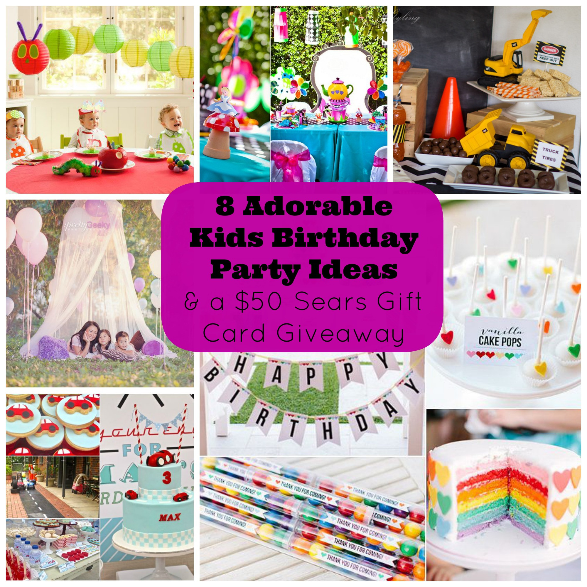 Best ideas about Toddler Birthday Party Ideas . Save or Pin 8 Adorable Kids Birthday Party Ideas and a Giveaway for a Now.