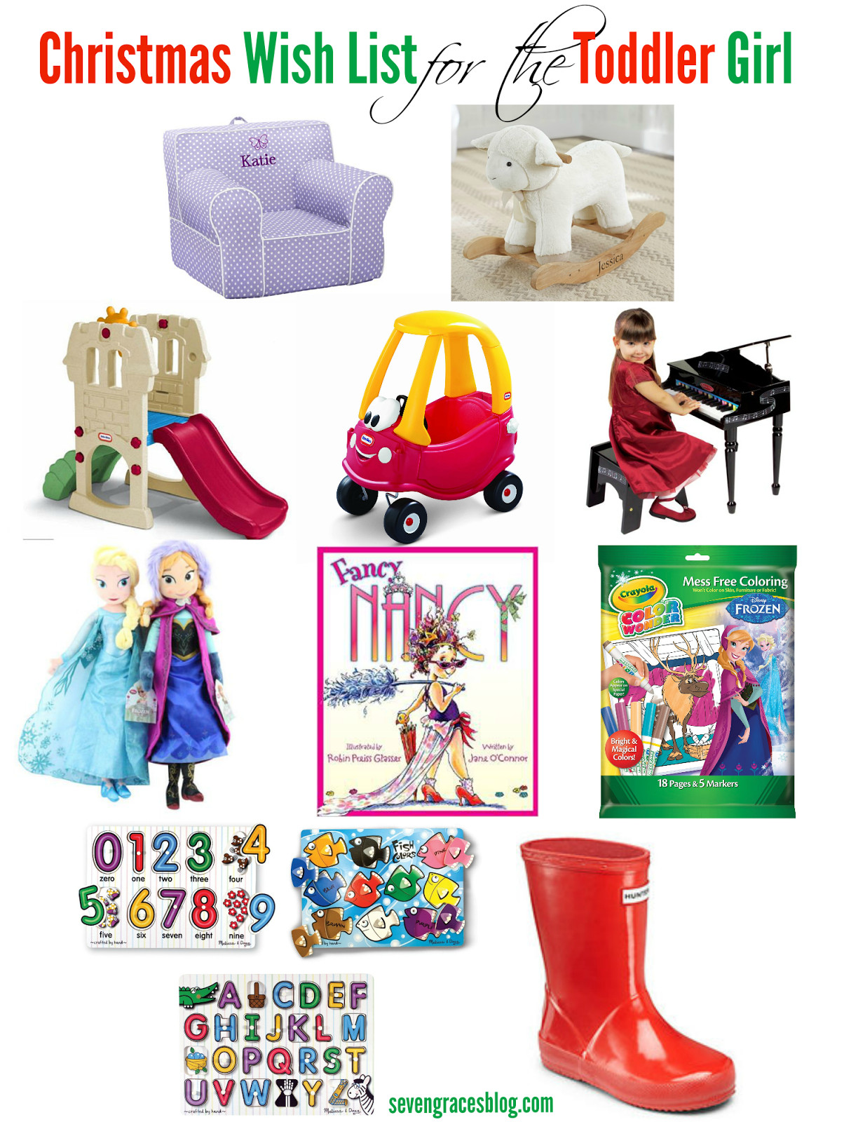 Best ideas about Toddler Girls Gift Ideas . Save or Pin Christmas Wish List for the Toddler Seven Graces Now.