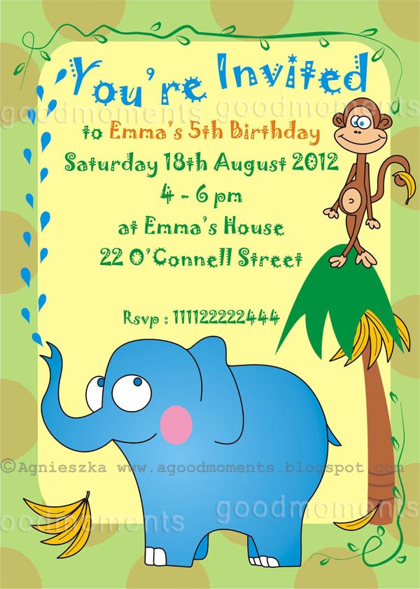 Best ideas about Toddlers Birthday Invitations . Save or Pin good moments Kids Birthday Party Invitations Dziecięce Now.