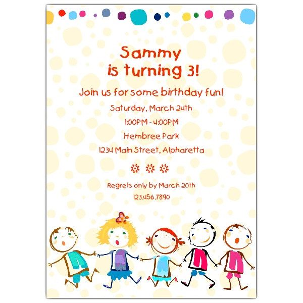 Best ideas about Toddlers Birthday Invitations . Save or Pin Cheerful Kids Birthday Invitations Now.