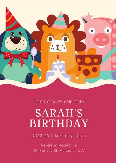Best ideas about Toddlers Birthday Invitations . Save or Pin Customize 3 999 Kids Party Invitation templates online Now.
