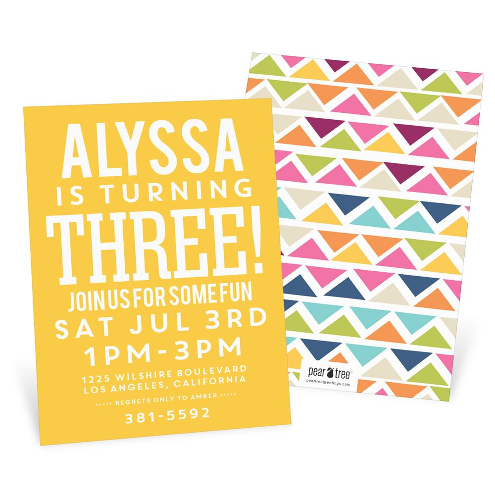 Best ideas about Toddlers Birthday Invitations . Save or Pin Multicolor Mosaic Kids Birthday Invitations Now.