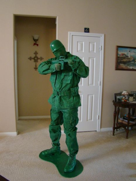 Best ideas about Toy Soldier Costume DIY . Save or Pin Toy Green Army Man Halloween Costume Now.