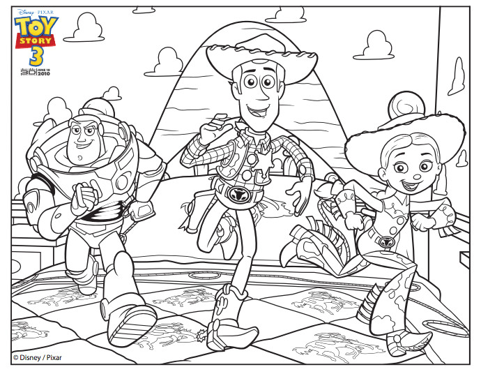 Best ideas about Toy Story Free Printable Coloring Pages . Save or Pin Toy Story Coloring Pages Toy Story of Terror Now.