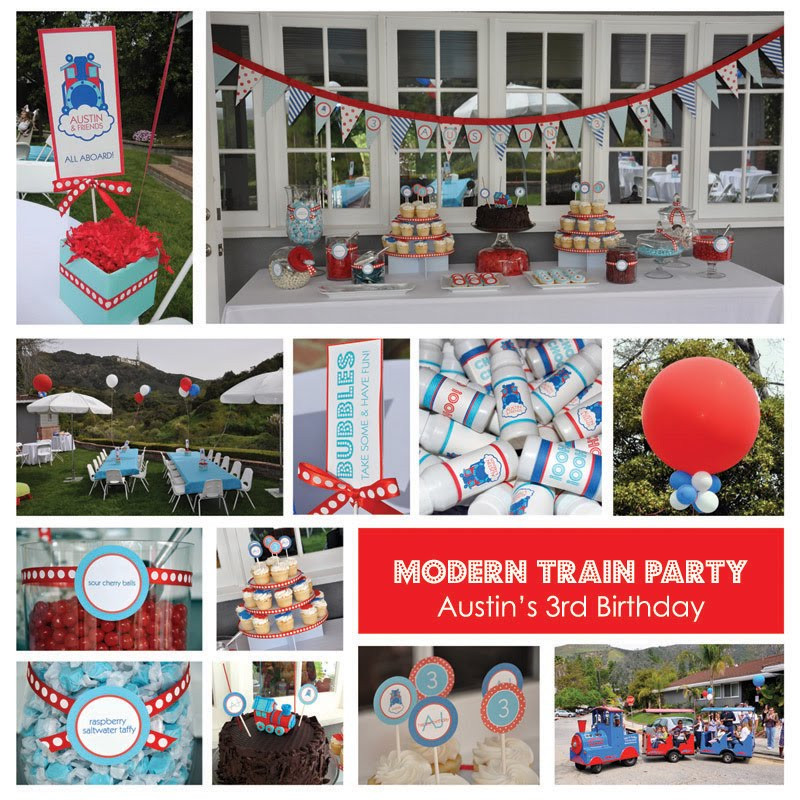 Best ideas about Train Birthday Decorations . Save or Pin Stylish Childrens Parties Choo Choo Train Birthday Party Now.