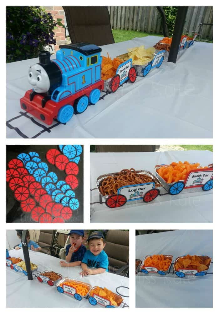 Best ideas about Train Birthday Decorations . Save or Pin Thomas The Train Party Decorations Little Miss Kate Now.