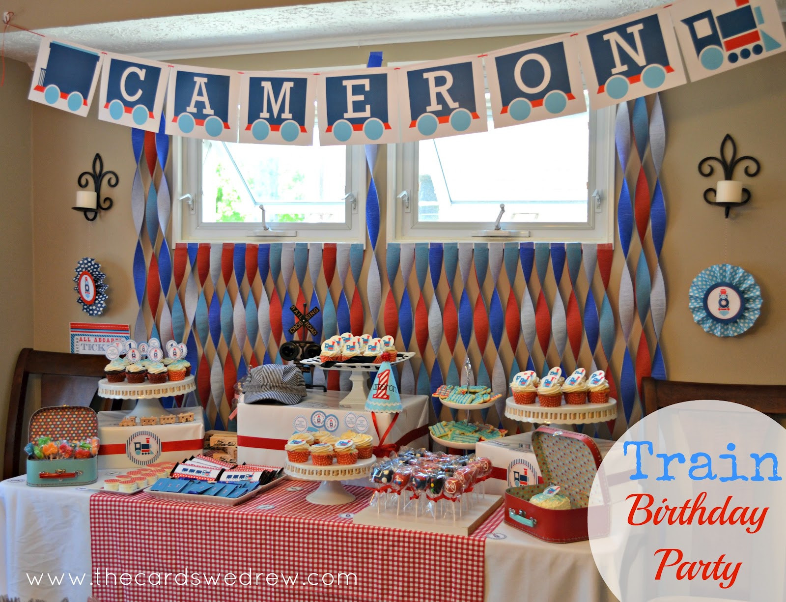 Best ideas about Train Birthday Decorations . Save or Pin Train Birthday Party The Cards We Drew Now.