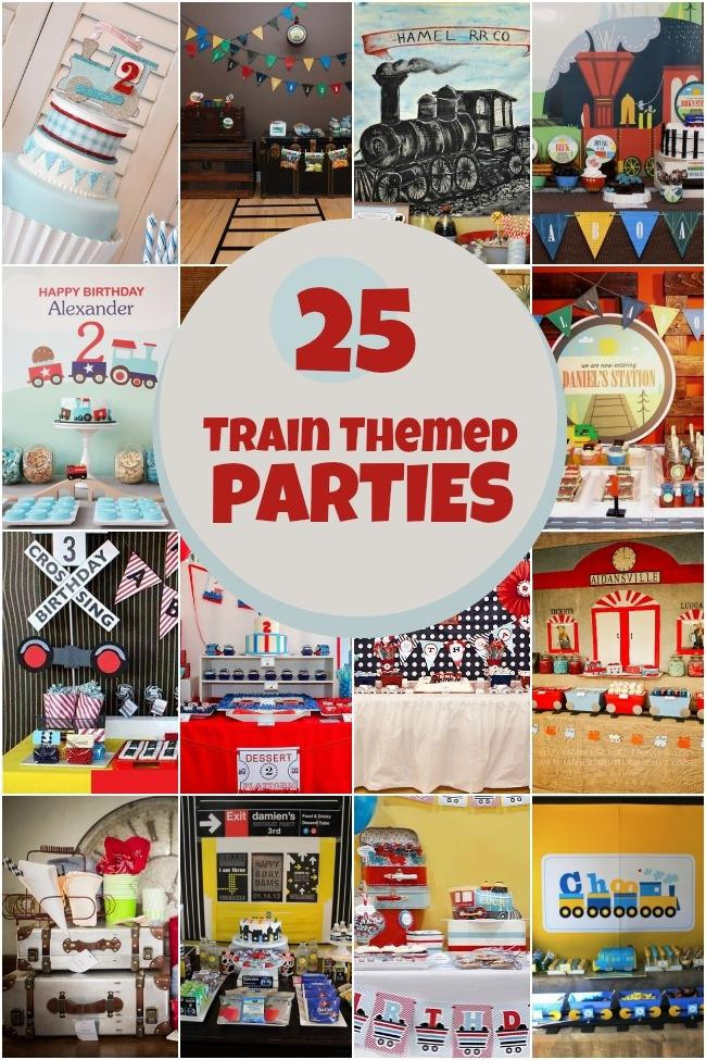 Best ideas about Train Birthday Decorations . Save or Pin 25 Train Themed Birthday Parties Spaceships and Laser Beams Now.