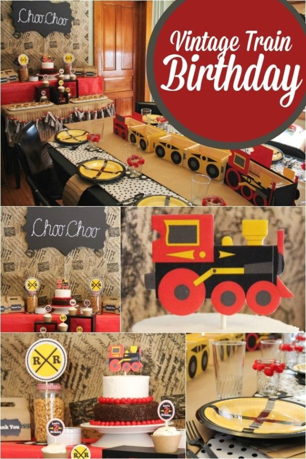 Best ideas about Train Birthday Decorations . Save or Pin A Choo Choo Train Themed Boy s 2nd Birthday Party Now.