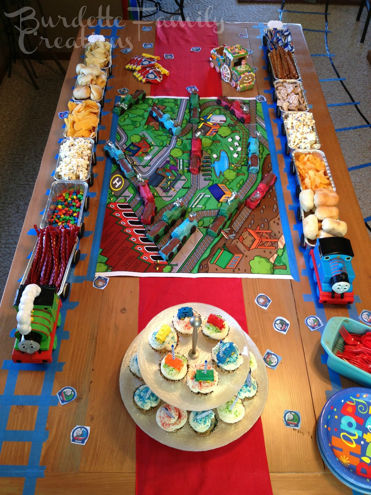 Best ideas about Train Birthday Decorations . Save or Pin Burdette Family Creations Thomas the Train Birthday Party Now.