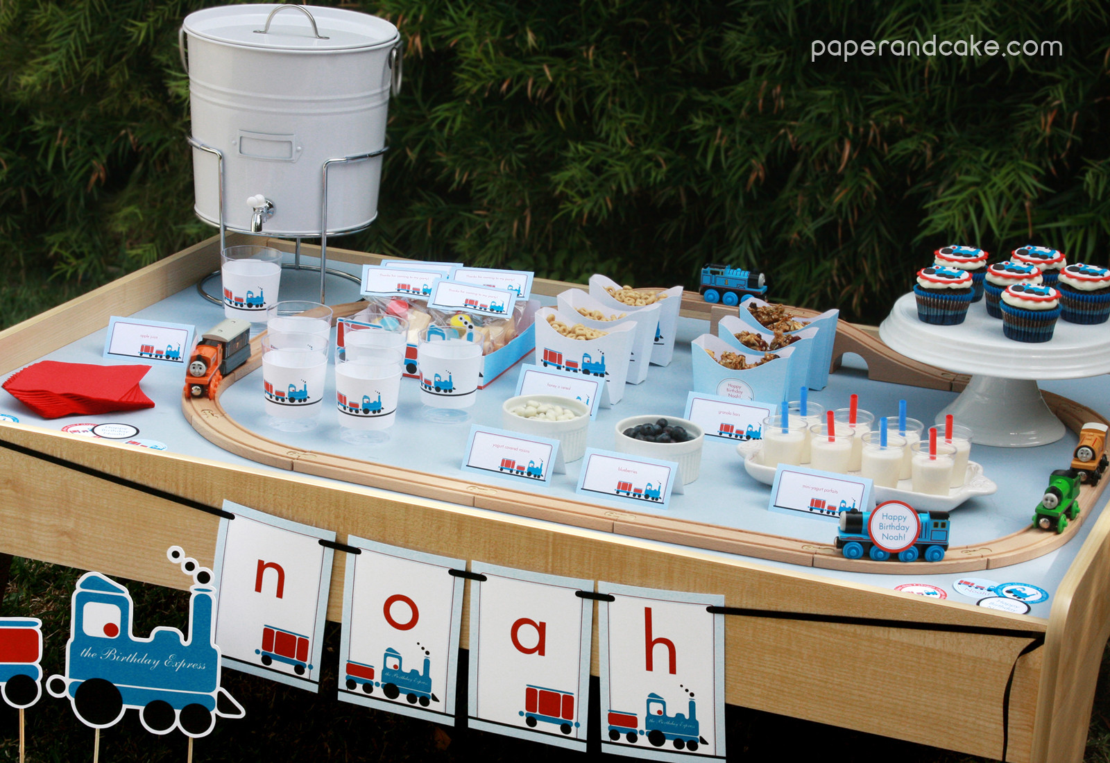 Best ideas about Train Birthday Decorations . Save or Pin paper and cake New Party All Aboard the Printable Train Now.