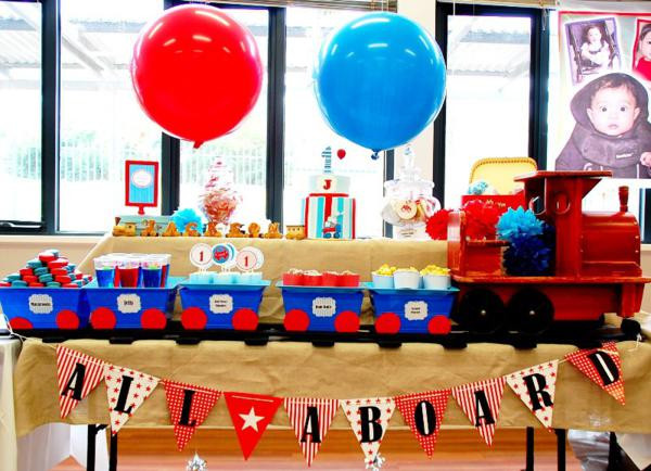 Best ideas about Train Birthday Decorations . Save or Pin Kara s Party Ideas Train Boy Themed Birthday Party Now.
