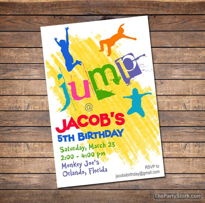 Best ideas about Trampoline Birthday Party Invitations . Save or Pin Trampoline Invitation Printable Boy or Girl Birthday Party Now.
