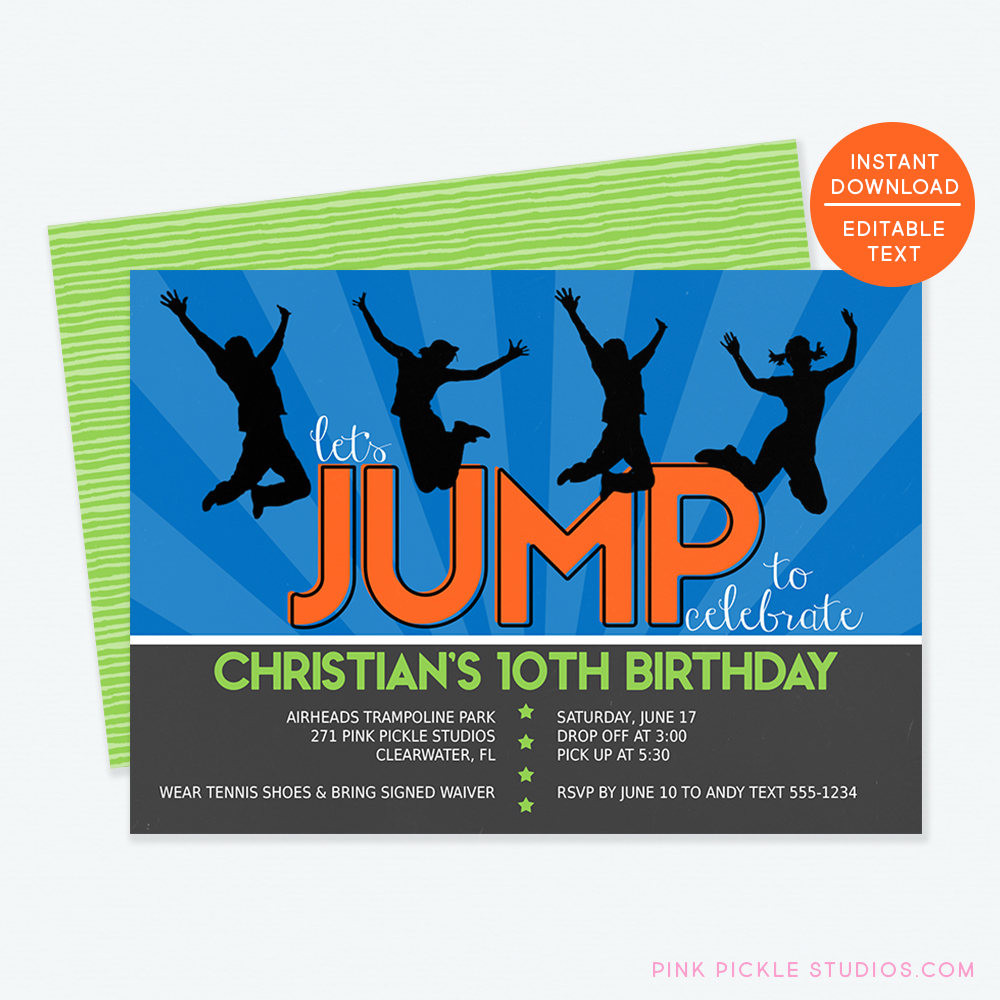 Best ideas about Trampoline Birthday Party Invitations . Save or Pin Trampoline Invitation Trampoline Party Invitation Trampoline Now.