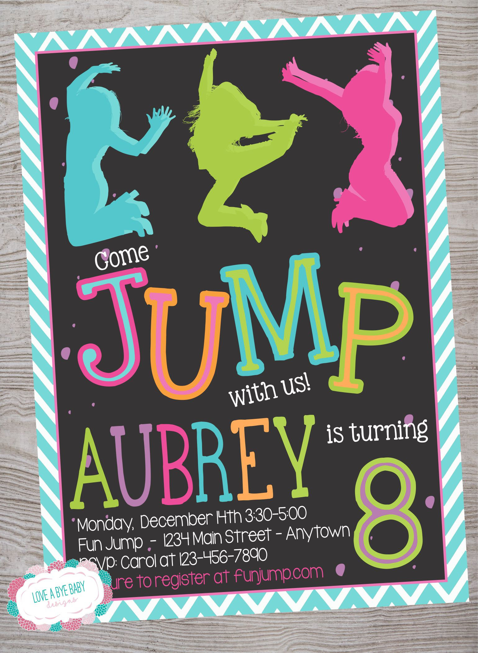Best ideas about Trampoline Birthday Party Invitations . Save or Pin Jump trampoline park birthday party invitation printable Now.