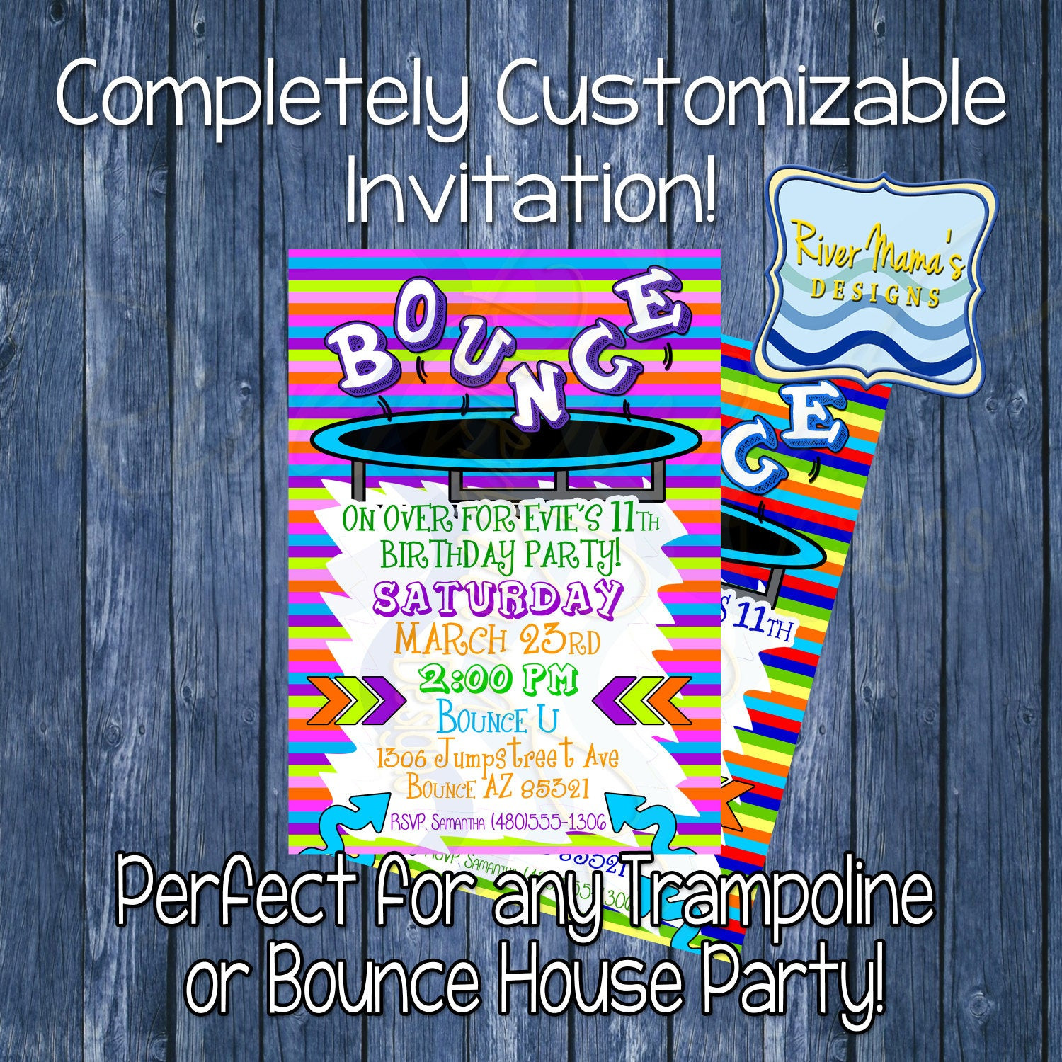 Best ideas about Trampoline Birthday Party Invitations . Save or Pin Printable Birthday Invitation Trampoline or by Now.