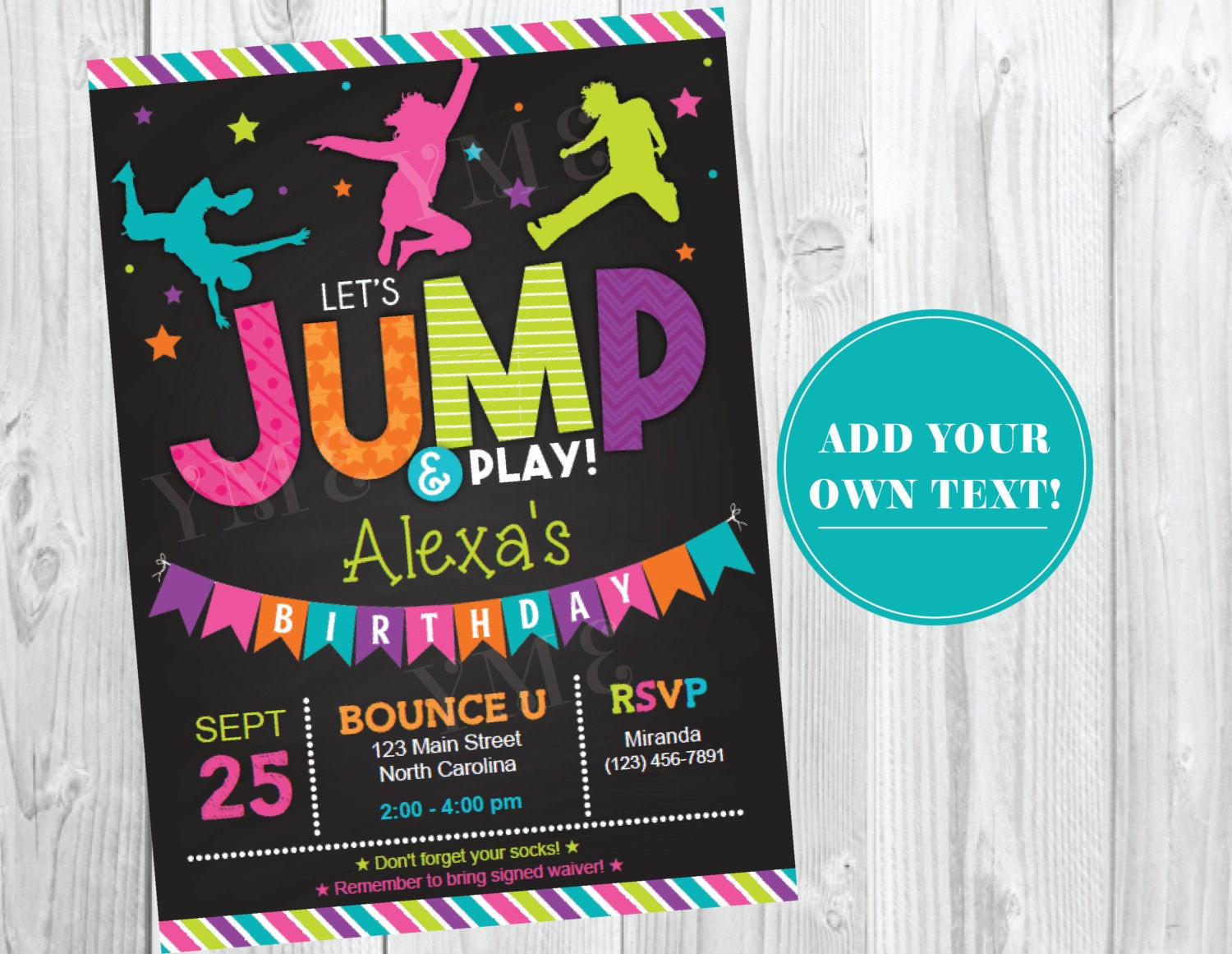 Best ideas about Trampoline Birthday Party Invitations . Save or Pin Jump Birthday Invitation Trampoline Party by Now.