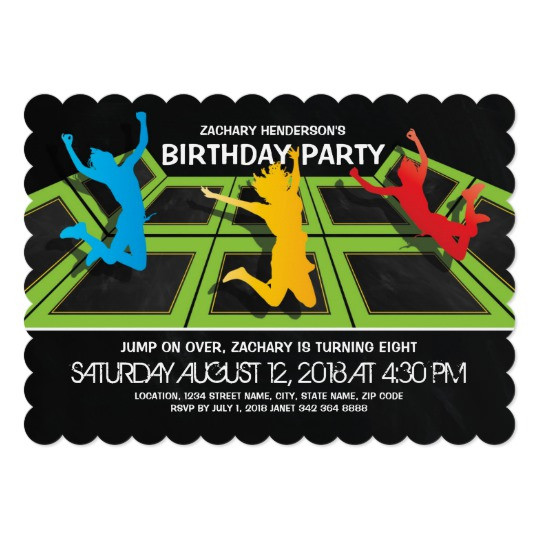 Best ideas about Trampoline Birthday Party Invitations . Save or Pin Trampoline Park Kids Birthday Party Invitation Now.