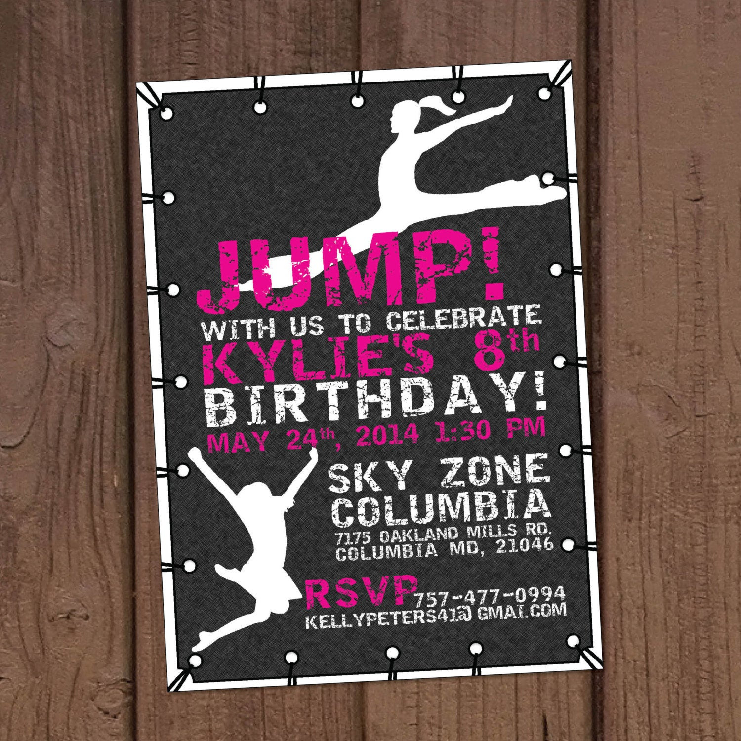 Best ideas about Trampoline Birthday Party Invitations . Save or Pin Girl Jump Trampoline Park Birthday Party Invitation Now.