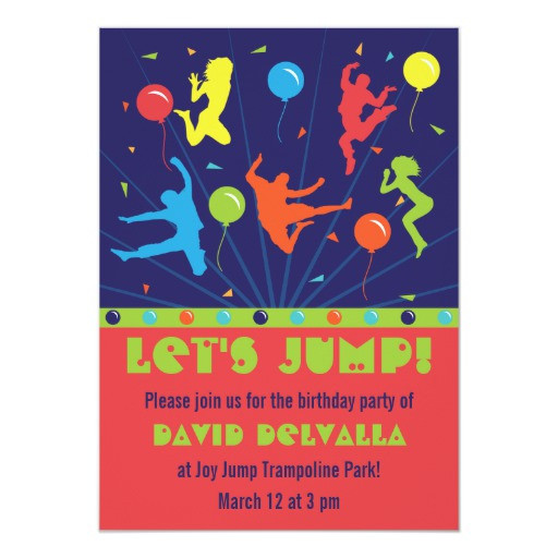 Best ideas about Trampoline Birthday Party Invitations . Save or Pin Trampoline Birthday Party Invitations Boys & Girls Now.